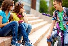 conversar com meninas