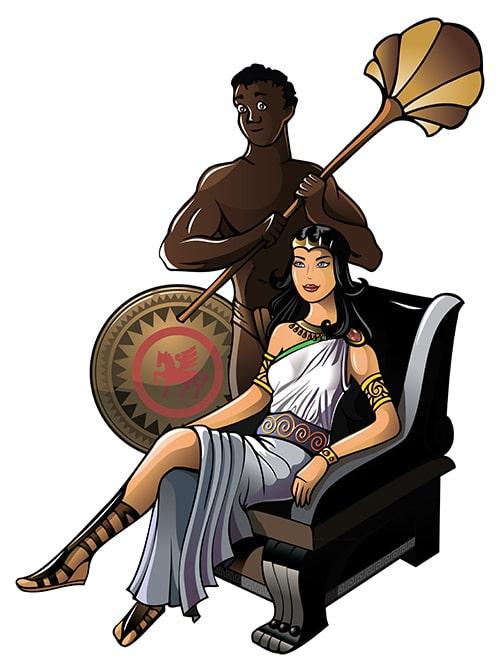 Mulher no pedestal